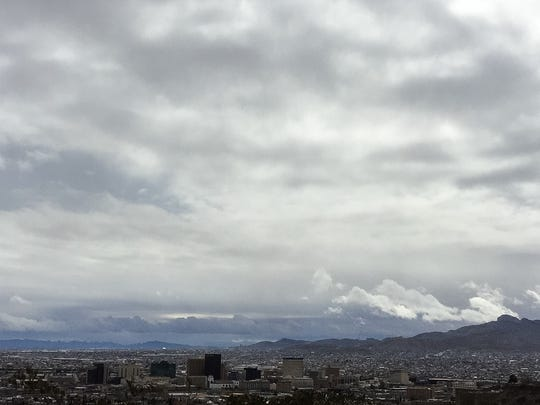 Cold, rain and wind hit the Borderland on Saturday. Gusts caused outages that led to thousands of El Paso Electric Co. customers losing power.
