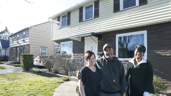 Samantha and James Redding with agent Sheila Varnado at their home, which sold with multiple offers. Address is 62 Redwood Avenue off of Lake Avenue.