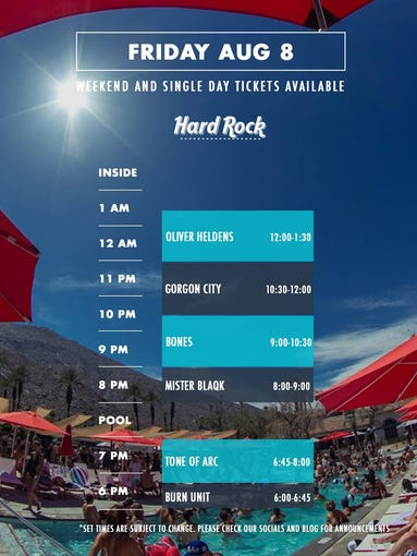 Friday set times.