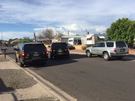 Barricade situation in east Mesa