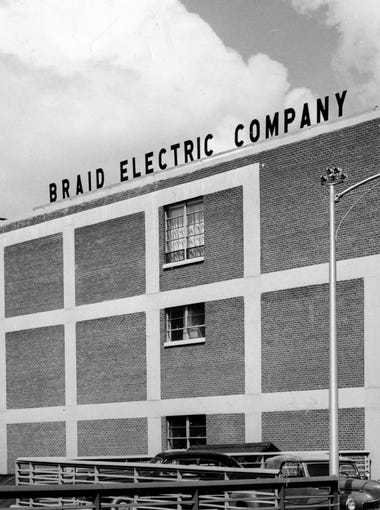 In its 75-year history, Braid Electric company has occupied several homes, the latest being the 42,000-square-foot structure at 1100 Demonbreun St., here Oct. 11, 1954.