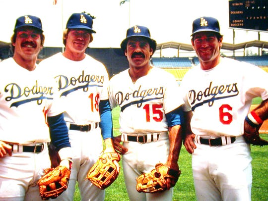 Davey Lopes, second from right, made up one of the