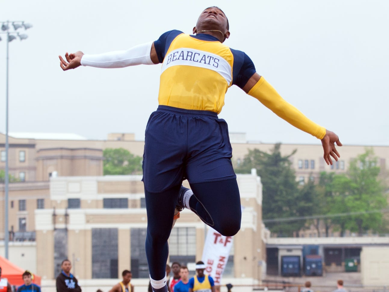 Battle Creek Central's Brandon Randle has an area-best leap of 23-feet, 1.50-inches in the long jump this season.