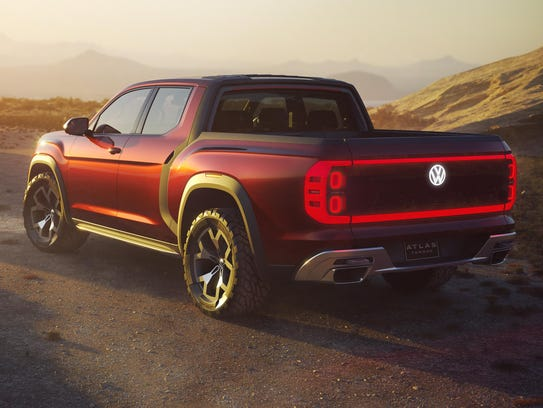 The Volkswagen Atlas Tanoak pickup concept
