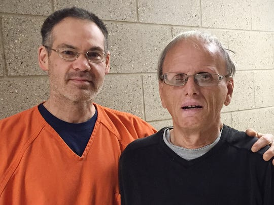 Inmate Michael Simpson (left) performed the Heimlich