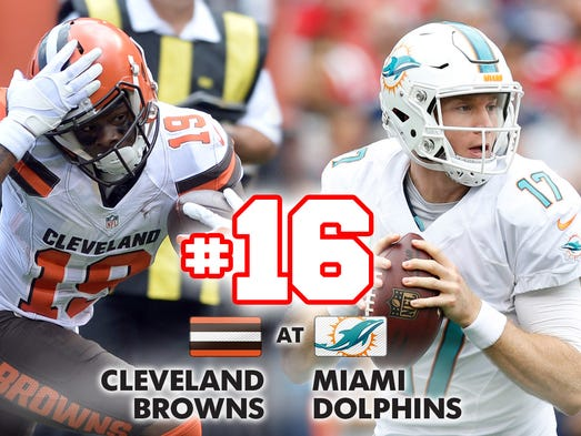 16. Browns at Dolphins: Rookie QB Cody Kessler is the