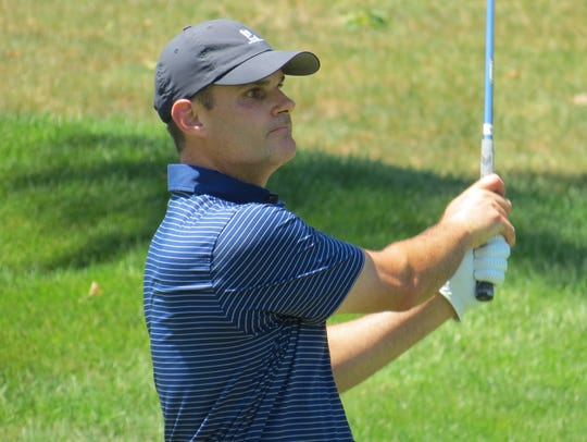 Michael O'Connell is one shot off the lead following