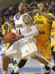 Jamelle Hagins averaged a double-double during his junior and senior seasons at UD.