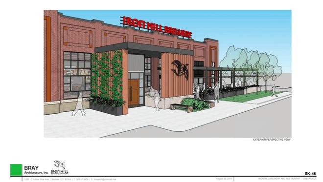 This is a rendering of Iron Hill Brewery