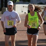 Dan O'Brien recently competed in the USA Masters Track and Field 5,000 meter race walking event.