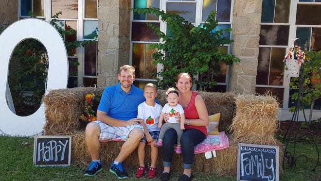 Ilea Trahan and her husband, Brett, and Liam, 4, and Adalyn, 10 months