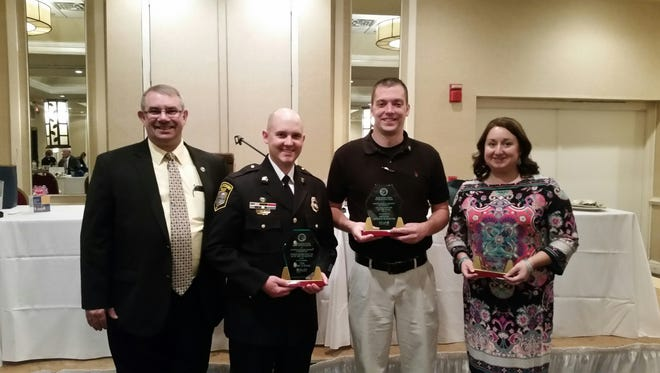 Pictured left to right: Captain Kelly Walker – BRCIT Coordinator, Sgt. David Shaw, Andrew McNorton and Jena Wolfe.