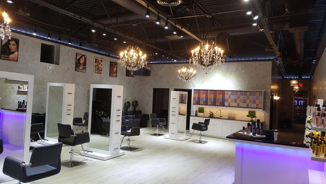 The interior of Salon 360 and Med Spa that opened this week in Garden City.