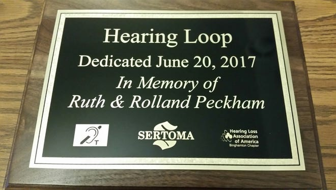 Afton Sertoma recently dedicated a hearing loop.