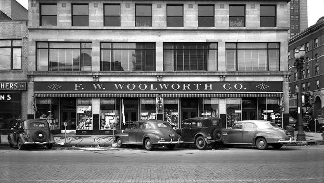 F.W. Woolworth Co., in downtown Lansing, undated photo.