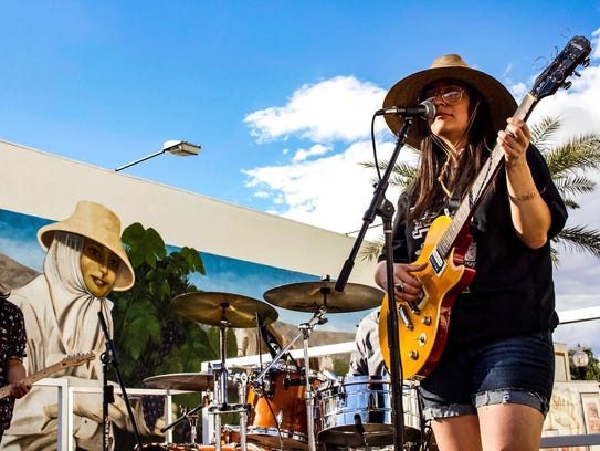 Giselle Woo and the Night Owls, featuring Christian Colin on guitar, will perform fourth at the Tachevah Music Showcase Thursday at the Date Shed. Courtesy photo/Bolin Jue