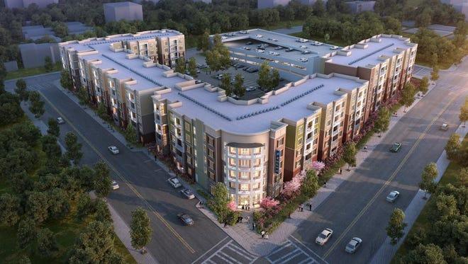 A rendering of the Aspen Springfield development being built on East St. Louis Street.