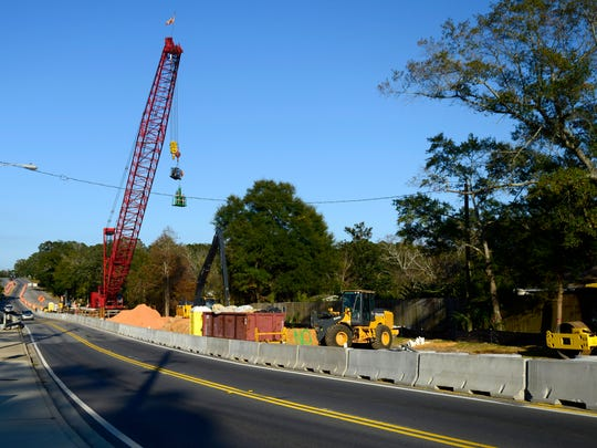 Construction continues on 12th Avenue near the Bayou
