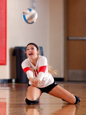Kenedy Franks was part of Laingsburg's historic basketball run last winter and is now contributing to the record volleyball season for the Wolfpack this fall.