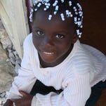 A refugee Haitian child Thompson photographed in the Bahamas in 2007.