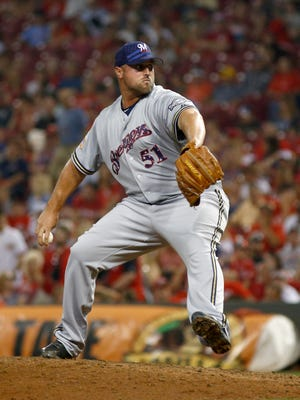 Jonathan Broxton was 1-2 with a 5.89 ERA in 40 games with the Brewers this season.