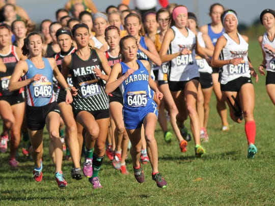 Amelia sophomore Maddie Walker is often found at the head of the pack.