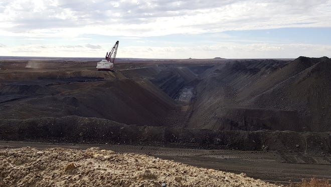 The Dixon Pit in Area III at the Navajo Mine as seen in early October.
