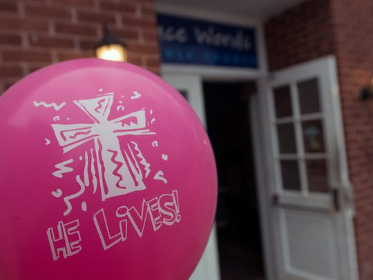 Each balloon delivered an Easter message by Grace Words