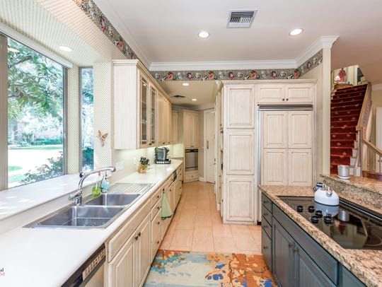 Plenty of storage can be found in the kitchen for every