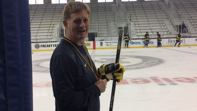 Michigan hockey coach Mel Pearson.