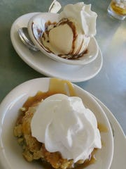 Eagle's Nest's offers an ice cream sundae or a warm, caramel-topped bread pudding.