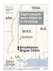 Police say 8 dead in Mississippi shooting.