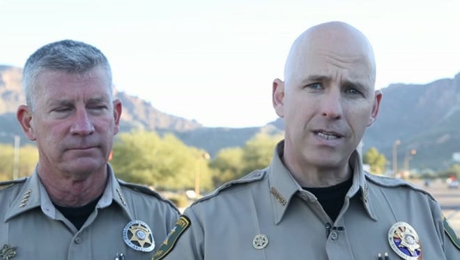 Pinal County Sheriff Paul Babeu discusses the medical helicopter that crashed in Superstition Mountains.