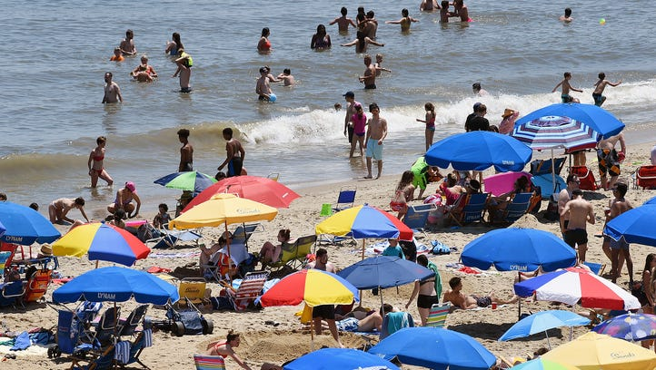 Crowds came to Rehoboth Beach on Saturday as Memorial