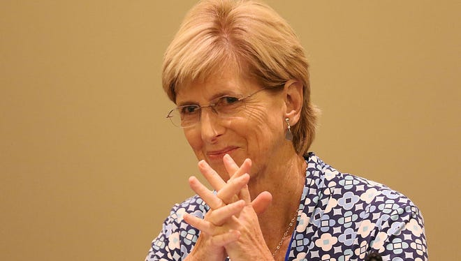 Fomer New Jersey Gov. Christine Todd Whitman has suggested Republicans register a protest vote in the June 7 primary by selecting John Kasich or Ted Cruz over Donald Trump.