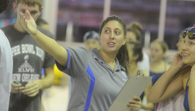 Samantha Singer of NV/Demarest is The Record Girls Swimming Coach of the Year.