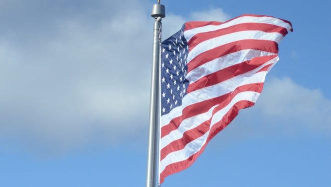 The U.S. flag.