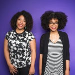 Tracy Clayton (left) and Heben Nigatu of Buzzfeed's 'Another Round' podcast.