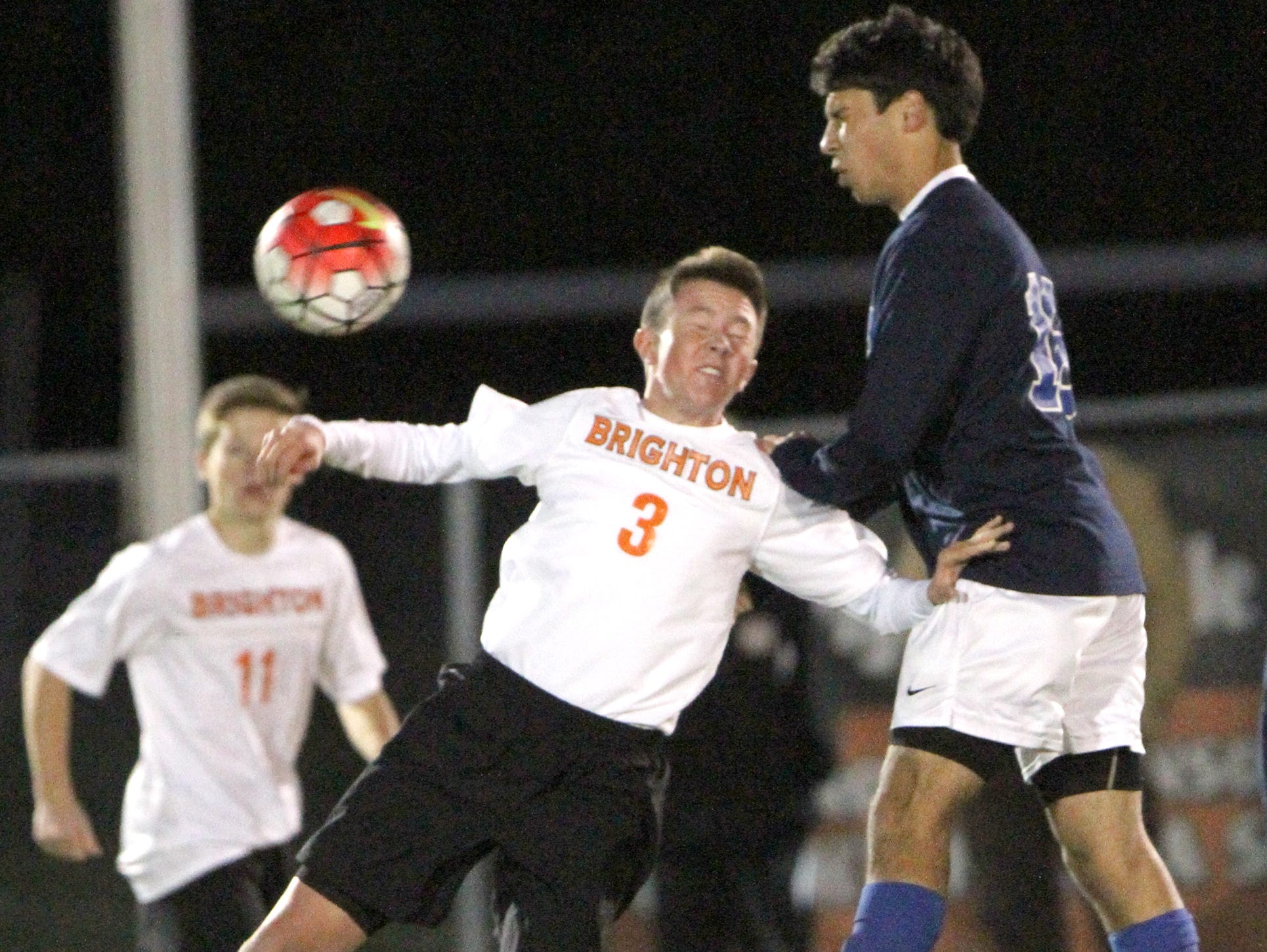 Brighton's Thomas Corrigan and his team suffered a 5-0 loss to Salem on Wednesday night. It was the Dogs' last regular-season game of 2015.