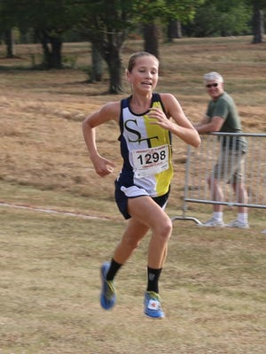 Presley Miles, an eighth grader at St. James, will compete in the AHSAA 4A state cross country meet on Saturday.