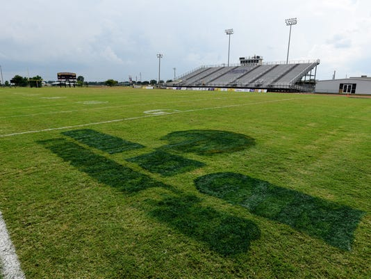 Logo Containing Cross Bible Verse Removed From Benton Football Field
