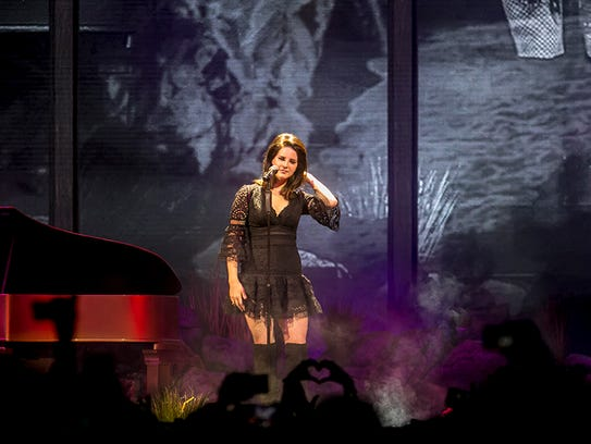 Lana Del Rey performs at Talking Stick arena Tuesday,