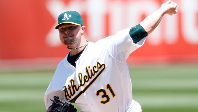 Jon Lester has a 116-67 record and a 3.58 ERA, all in the American League.