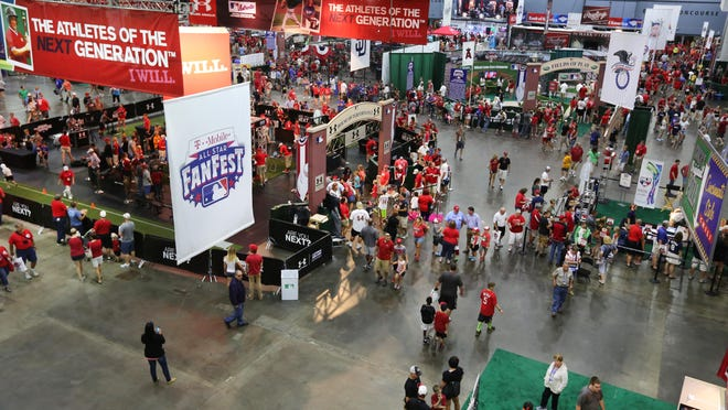 The T-Mobile All-Star FanFest, at the Duke Energy Convention Center, ended Tuesday. Clean up of the event began later that night.