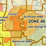 Zone 4B has been closed to hunting, other than waterfowl, through the end of deer season.