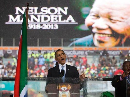 South Africa Obama Mandela