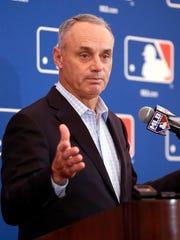 Major League Baseball commissioner Rob Manfred.
