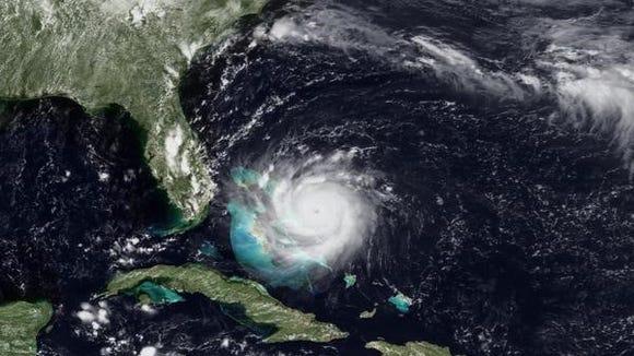 Hurricane Andrew at maximum strength on Aug. 24, 1992