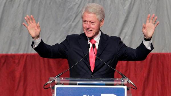 Former President Bill Clinton speaks during the Ohio Democratic Party annual dinner Friday, June 13, 2014, in Columbus.