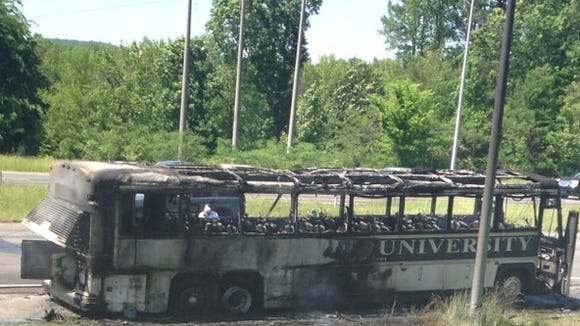 The Jackson State baseball team's bus caught fire on its way to play Savannah State.